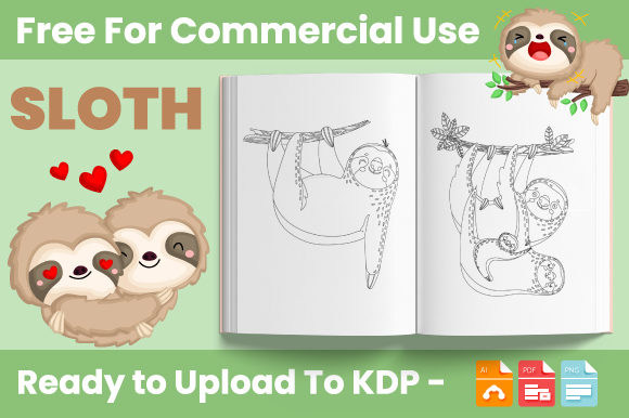 Print on Demand: Sloth Coloring Book for Kids - KDP Graphic Coloring Pages & Books Kids By Trend Color