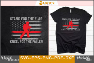 Print on Demand: Stand for the Flag Design of Firefighter Graphic Print Templates By Sarofydesign