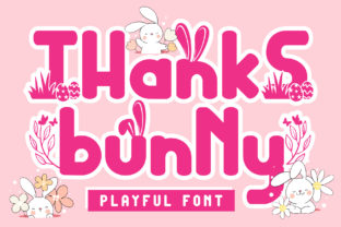 Print on Demand: Thanks Bunny Display Font By andreyfontdesign
