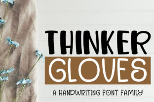 Print on Demand: Thinker Gloves Display Font By jehansyah251