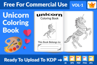 Unicorn Coloring Book - KDP Interior Graphic KDP Interiors By Md Abu Saeid