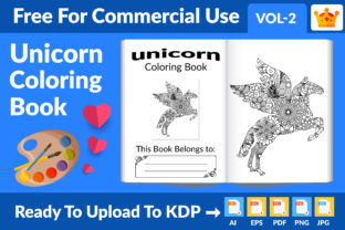 Unicorn Coloring Page KDP Interior Graphic KDP Interiors By Md Abu Saeid