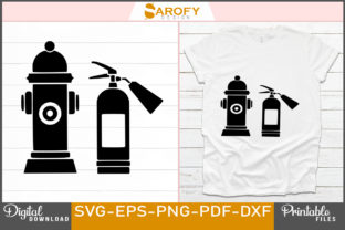 Print on Demand: Vector Fire Hydrant Silhouette Design Graphic Print Templates By Sarofydesign