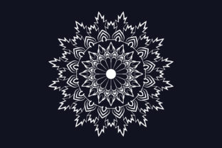 Print on Demand: White Mandala Background Design Graphic Crafts By grgroup03