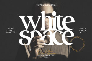 Print on Demand: White Space Serif Font By Din Studio