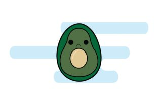 Easter Egg and Avocado Graphic Illustrations By luckypursestudio