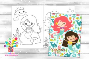 Mermaid Coloring Book - Pdf Graphic Coloring Pages & Books Kids By marilakits