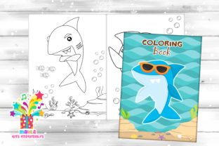Print on Demand: Shark Coloring Book - Pdf Graphic Coloring Pages & Books By marilakits