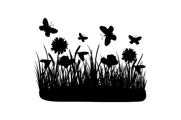 Spring Silhouette Cut File