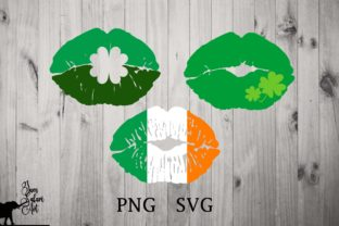 3 St Patrick's Day Lips SVG Graphic Illustrations By JamSafariArt