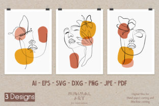 Print on Demand: 3design Wall Art /Continuous Line,Woman Graphic Illustrations By Momixzaa