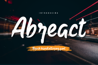 Print on Demand: Abreact Script & Handwritten Font By Productype