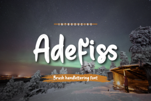 Print on Demand: Adefiss Script & Handwritten Font By Productype
