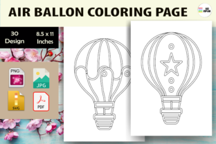 Print on Demand: Air Ballon Coloring Page 2 - KDP Graphic Coloring Pages & Books Kids By Sei Ripan