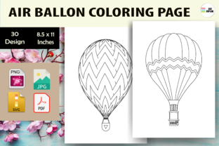 Print on Demand: Air Ballon Coloring Page - KDP Graphic Coloring Pages & Books Kids By Sei Ripan