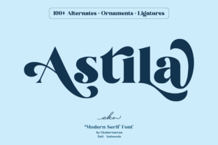 Print on Demand: Astila Serif Font By ekahermawan