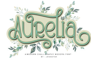 Print on Demand: Aurelia Display Font By jehansyah251