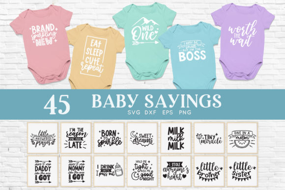 Baby Sayings Newborn Svg Bundle Graphic Crafts By peachycottoncandy