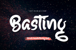 Print on Demand: Basting Script & Handwritten Font By Productype