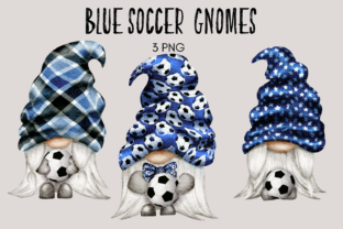 Print on Demand: Blue Soccer Football Gnomes Graphic Illustrations By Celebrately Graphics
