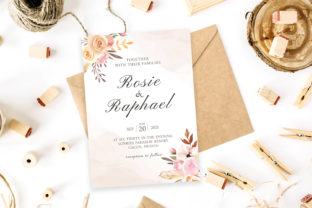 Print on Demand: Blush Watercolor Wedding Invitation Graphic Print Templates By Creative Tacos