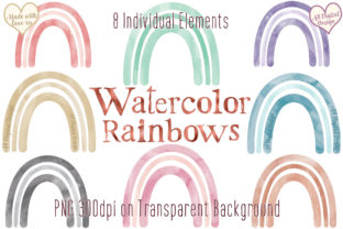 Boho Rainbows Baby Nursery Clipart Graphic Illustrations By AB Digital Design