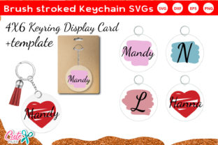 Brusk Stroked Keychain and Keyring SVG Gráfico Crafts Por Cute files