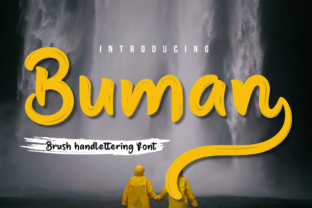 Print on Demand: Buman Script & Handwritten Font By Productype