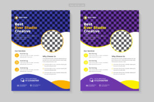 Business Corporate Flyer Design Template Graphic Print Templates By Design Sparkled 1