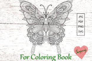 Butterfly for Adult Coloring Book Graphic Coloring Pages & Books Adults By somjaicindy