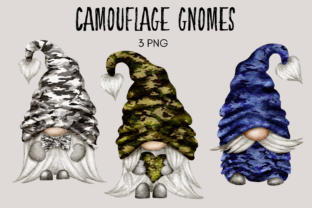 Print on Demand: Camouflage Gnomes Graphic Illustrations By Celebrately Graphics