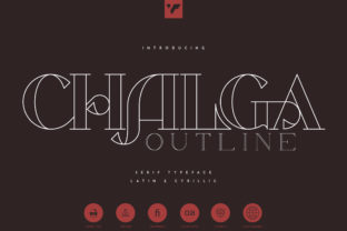 Print on Demand: Chalga Serif Font By vladfedotovv