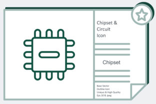 Chipset and Circuit Icon - Chipset Graphic Icons By noumineomi