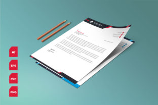 Corporate Letterhead Template Vector Graphic Print Templates By graphs_art