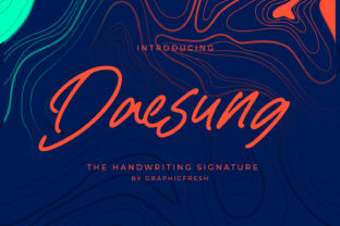 Print on Demand: Daesung Script & Handwritten Font By Graphicfresh