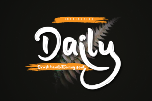 Print on Demand: Daily Script & Handwritten Font By Productype