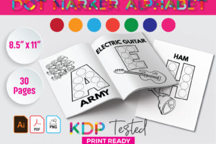 Dot Marker ABC Alphabet Activity Book Graphic KDP Interiors By GraphicTech360