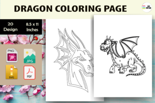 Print on Demand: Dragon Coloring Page - KDP Graphic Coloring Pages & Books Kids By Sei Ripan