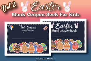 Easter Blank Coupon Book for Kids Vol 1 Graphic KDP Interiors By Engine Kdp Market