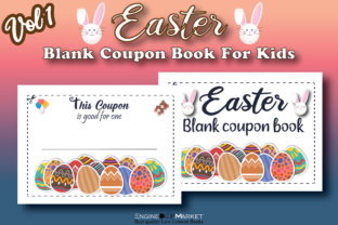 Easter Blank Coupon Book for Kids Vol 2 Graphic KDP Interiors By Engine Kdp Market