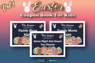 Easter Coupon Book for Kids Vol 1 Graphic KDP Interiors By Engine Kdp Market