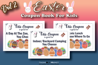 Easter Coupon Book for Kids Vol 2 Graphic KDP Interiors By Engine Kdp Market