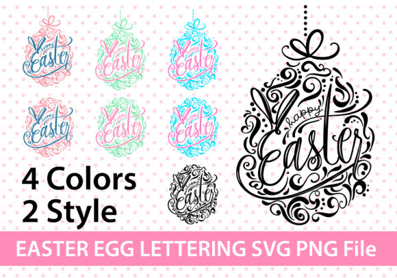 Easter Egg Duo Color SVG Graphic Crafts By BB Digital Arts