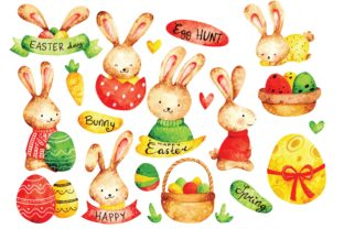 Easter Egg Water Color Clipart Graphic Illustrations By Big Barn Doodles