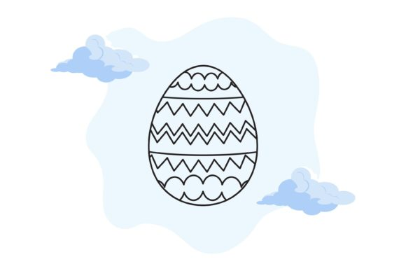 Easter Eggs Background Cloud Graphic Illustrations By fadhiesstudio