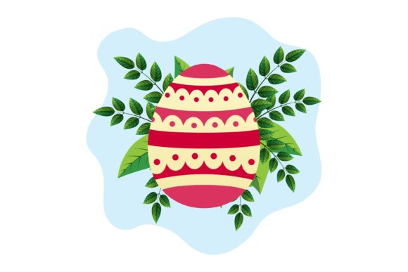 Easter Eggs Banner Frame Floral Graphic Illustrations By fadhiesstudio