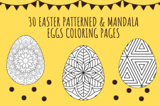 Easter Pattern Eggs Coloring Pages Gráfico Páginas KDP Por skrshawon