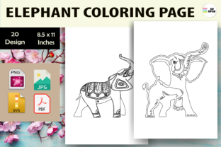 Print on Demand: Elephant Coloring Page 2 - KDP Graphic Coloring Pages & Books Kids By Sei Ripan