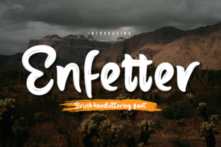 Print on Demand: Enfetter Script & Handwritten Font By Productype