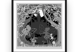 Fairy Castle Shadow Box Template Graphic 3D Shadow Box By That Crafty Rachel